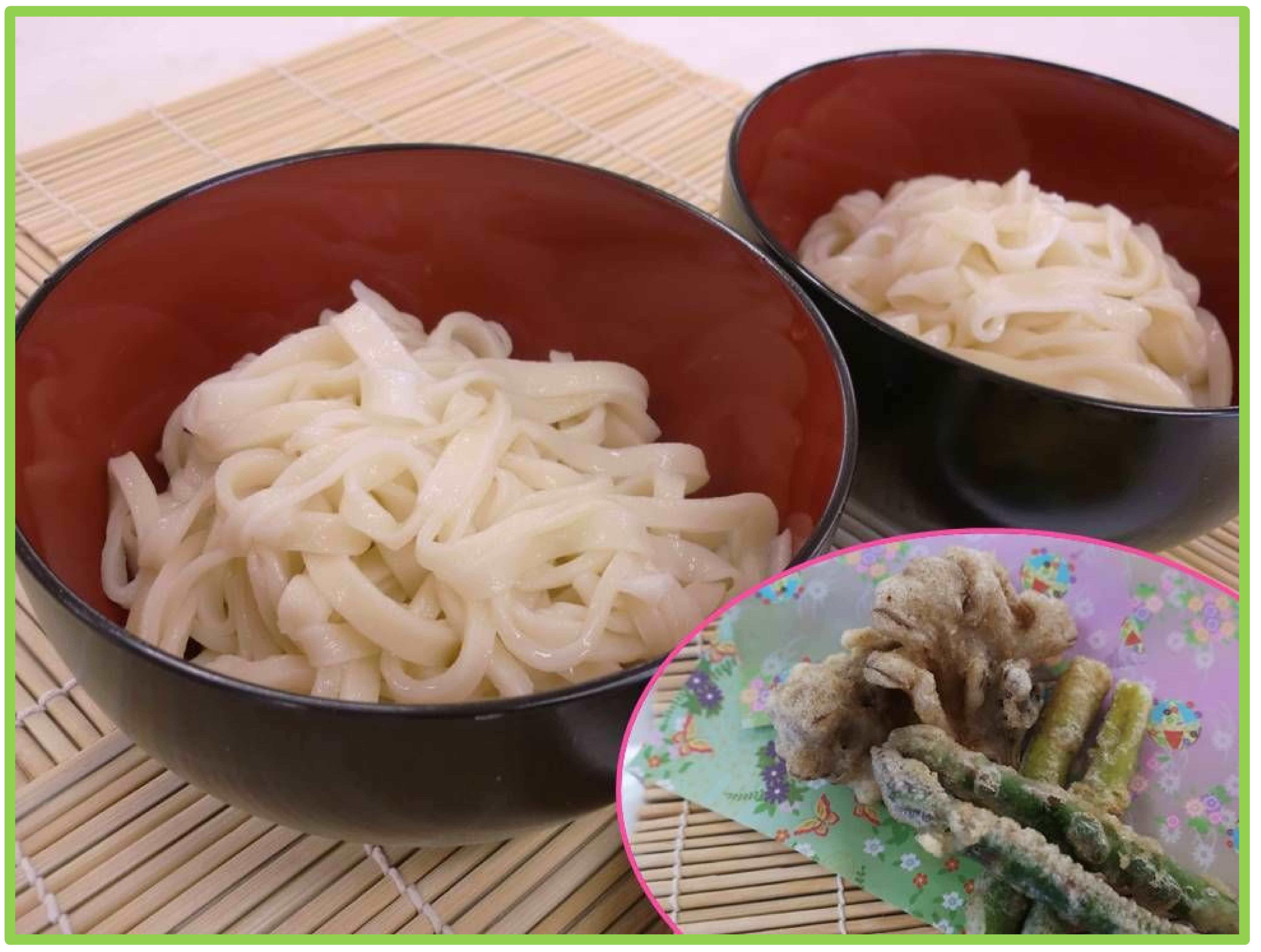 【GW企画】足でフミフミ手打ちうどんを作ろう(旬野菜の天ぷら付)